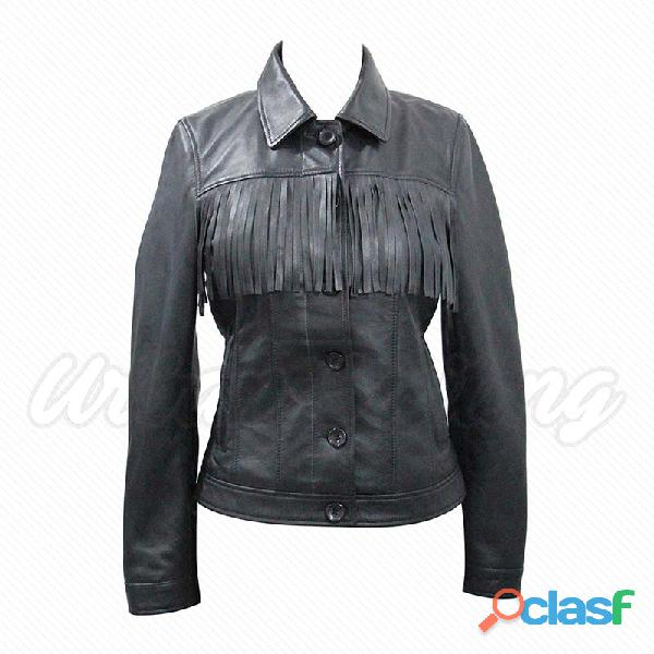 leather biker fashion jackets for ladies fur jackets 3