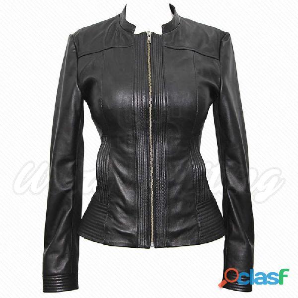 leather biker fashion jackets for ladies fur jackets 12