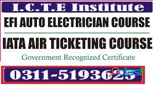 EFI Auto Electrician Experience based Diploma Course In Rawalpindi murree road 6