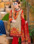 Moon Classic Linen 3 PC Printed Suit, Faisalabad