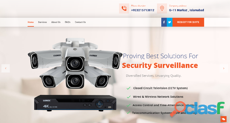 cctv Cameras Installation and Services in Islamabad