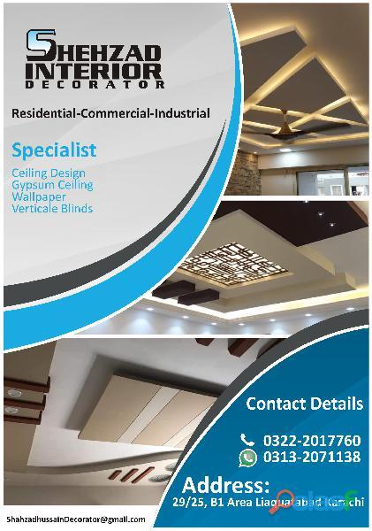 Ceiling Design Gypsum Ceiling Wallpaper 1