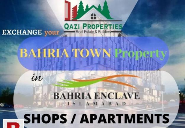 Exchange your bahria town plots with luxury apartments and