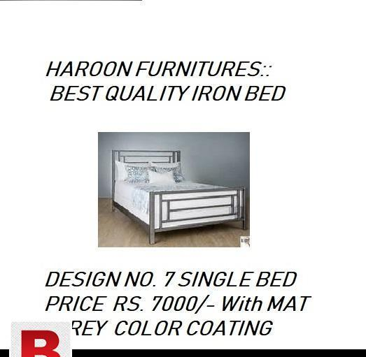 Single iron beds available for home delivery by haroon