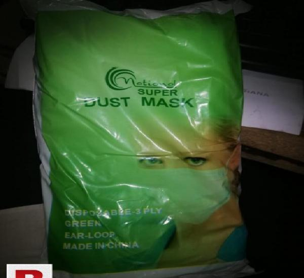 Dust mask 100% 3 ply (import quality)