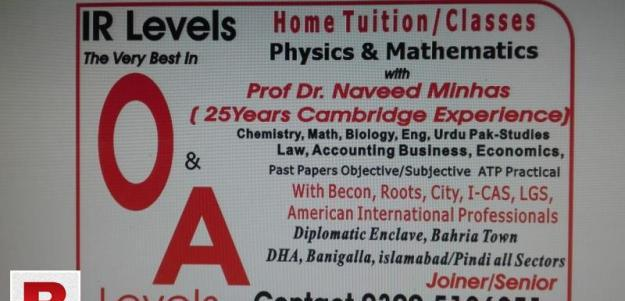 Ir level academy &on line home tuition
