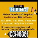 Staff required for hr department, lahore