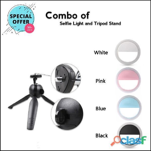 Combos of selfie ring light with tripod stand