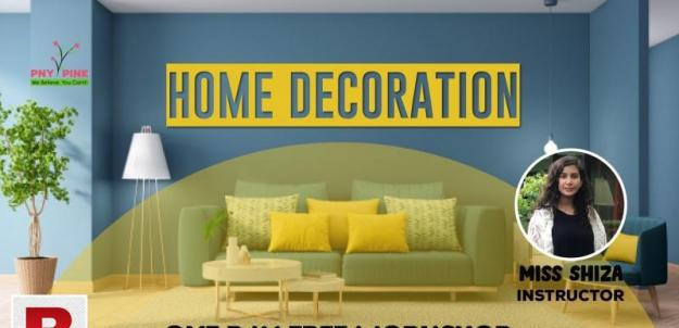 Free workshop on decorate your home | online session