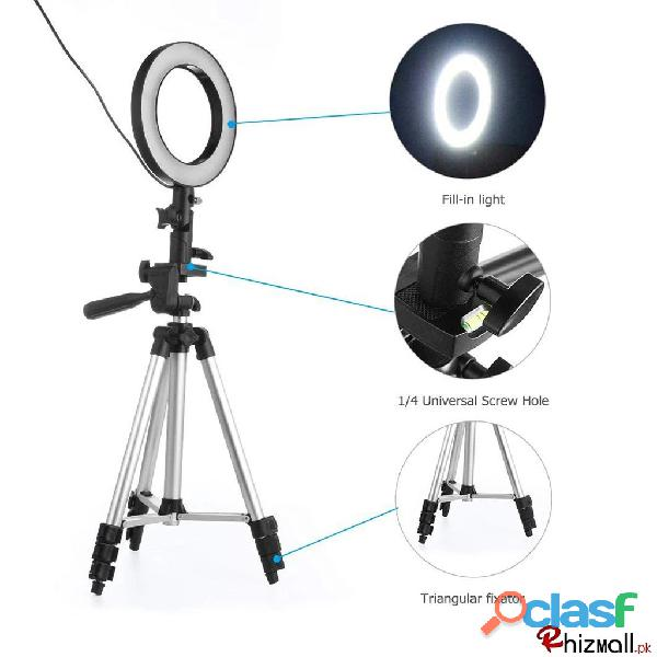 26cm selfie ring light with tripod stand & cell phone holder for live stream circle lighting ring