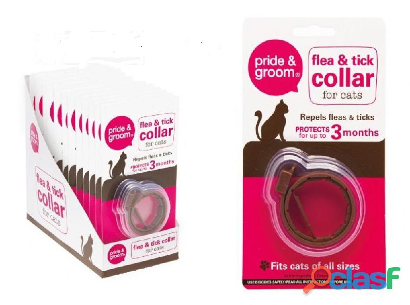 Tick and flea collar for cats