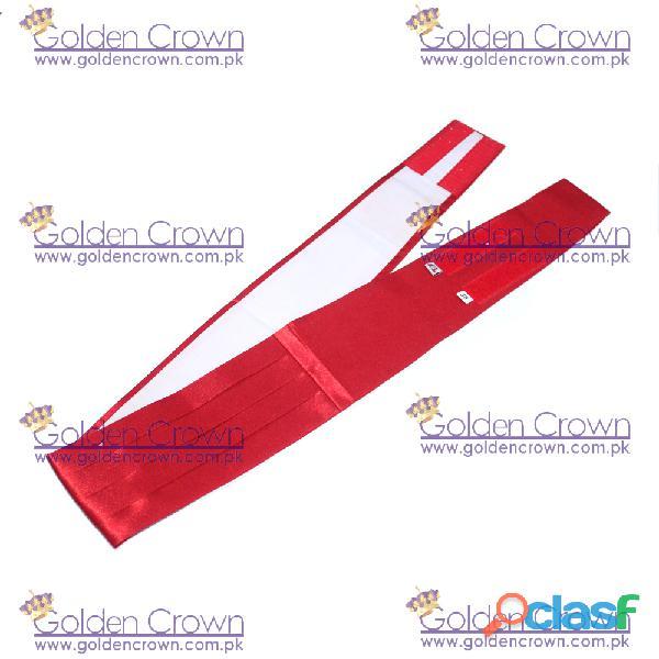 Polyester silk waist cummerbund