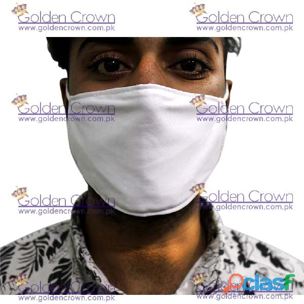 White Polyester Face Mask Supplier 3