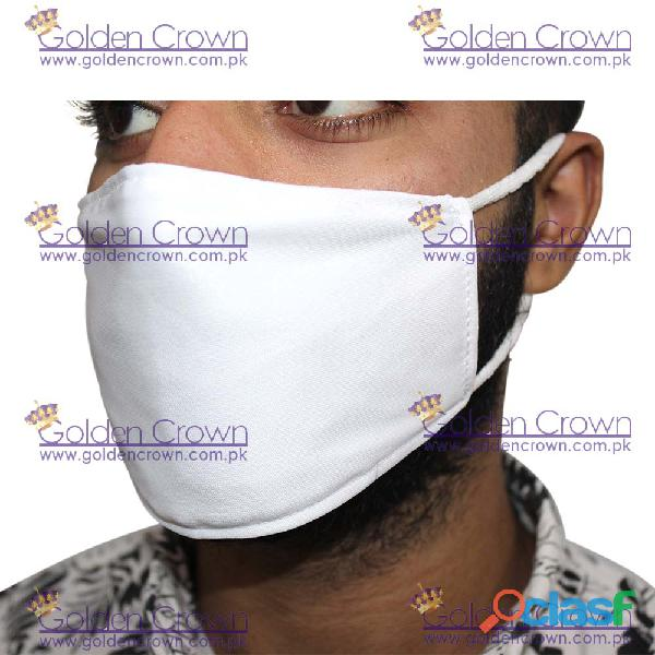 White Polyester Face Mask Supplier 1