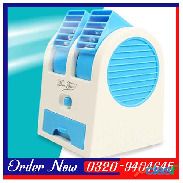 Mini Small Fan Cooler Cooling Portable Desktop Dual Bladeless Air Cooler USB 2