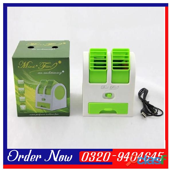 Mini Small Fan Cooler Cooling Portable Desktop Dual Bladeless Air Cooler USB 1