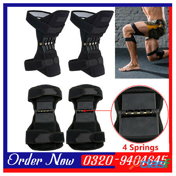 KNEEPAD   Spring Loaded POWER LEG Knee Joint Support Pads In Pakistan 1