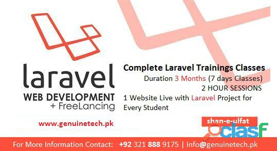 Learn php with laravel training in lahore