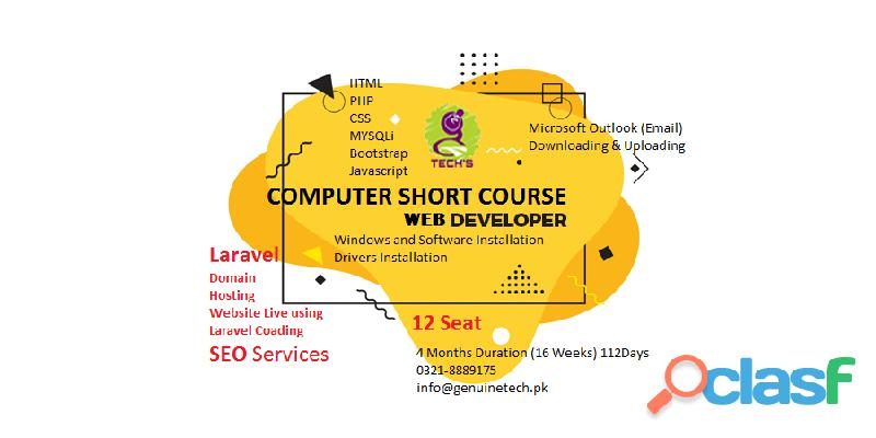 Learn Web Development Short Course in Lahore