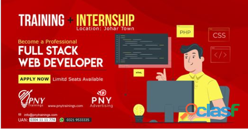 Become a professional full stack web developer   internship + training
