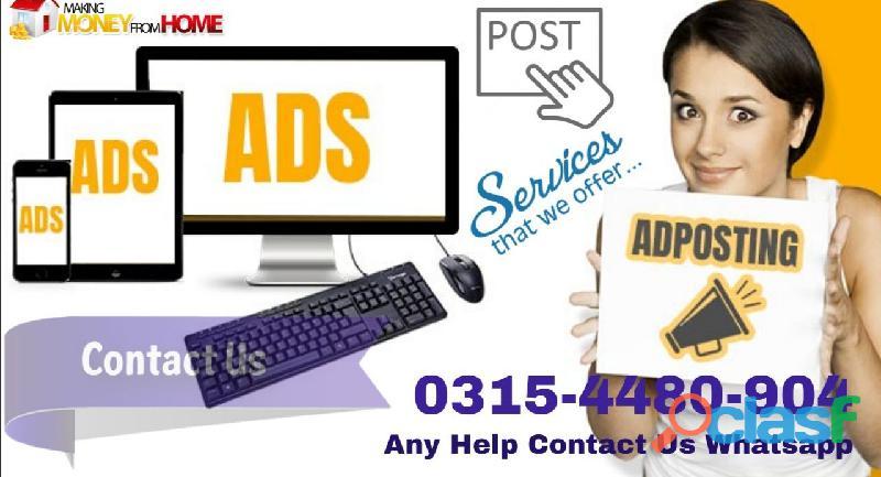 Ads Posting specialist