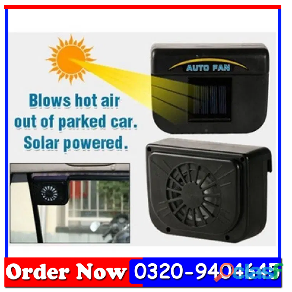 Solar Powered Car Auto Air Vent Cooling Fan System 2