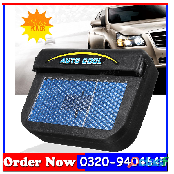 Solar Powered Car Auto Air Vent Cooling Fan System 1