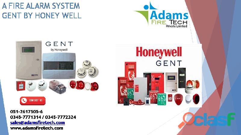 Fire alarm system   gent by honey well   adams fire tech