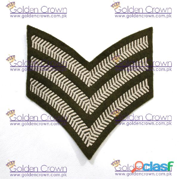 Military shoulder insignia chevron sergeant stripes supplier