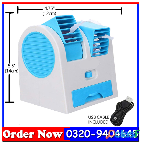 Air conditioner shaped mini cooler usb fan with fragrance