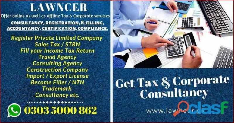 Ntn, income tax, gst, fbr, secp, company, pra, chamber, trademark, pec