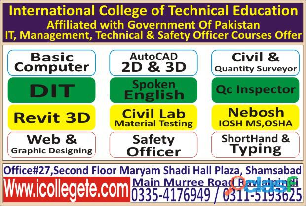Civil Lab Technician Course in Sargodha Jhelum 2
