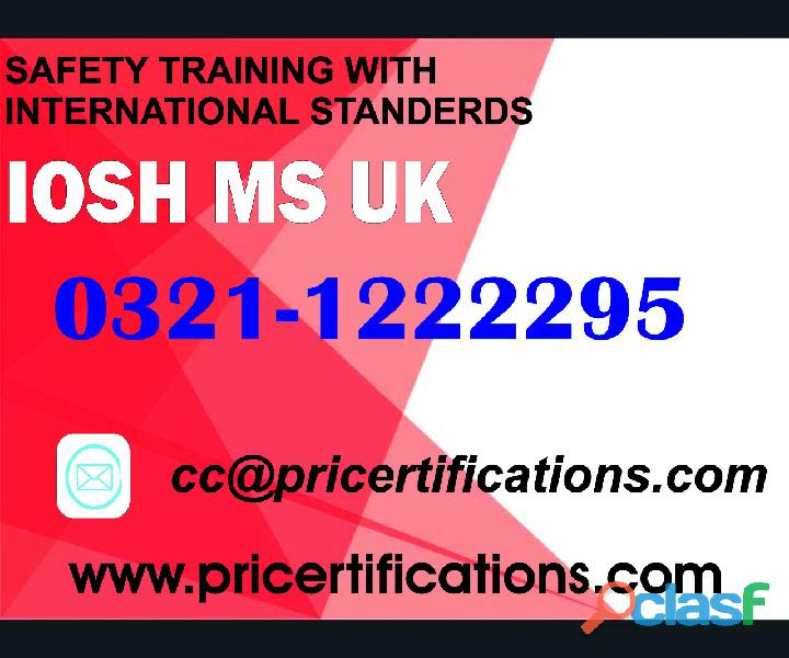 Iosh course in rawalpindi
