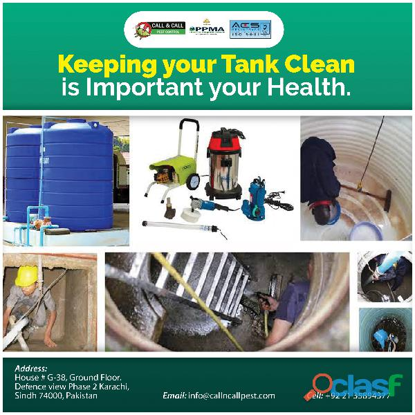 Water tank cleaning ( call&call pest control services