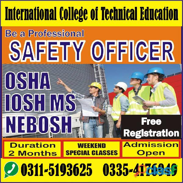 NEBOSH IG Course In Sahiwal Sargoda
