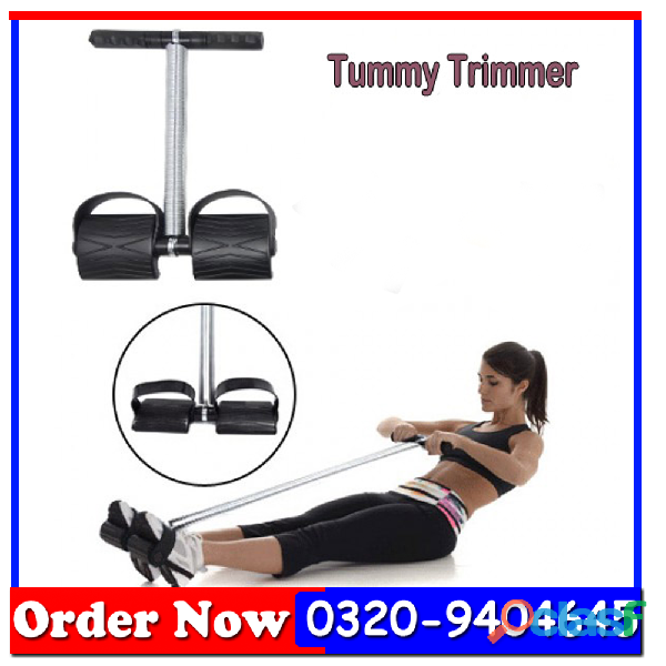 Tummy Trimmer Single Spring Black & Silver In All Pakistan
