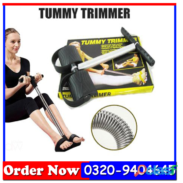 Tummy Trimmer Single Spring Black & Silver In All Pakistan 2