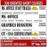 100 Job Oriented Short Courses, Karachi