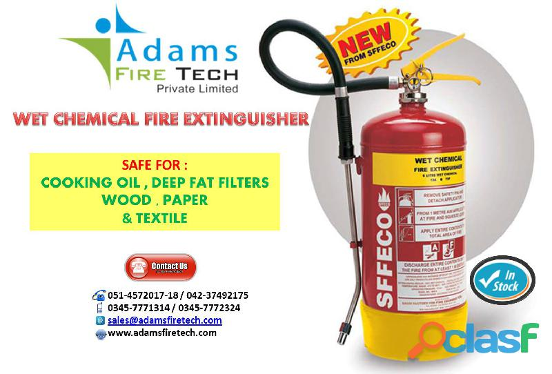 WET CHEMICAL EXTINGUIHERS SFFECO ADAMS FIRE