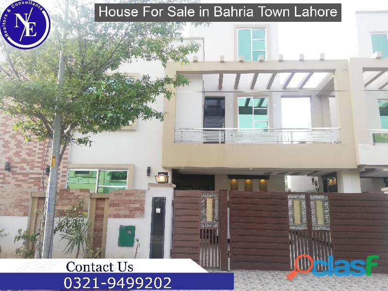 10 marla brand new house is available for sale in bahria town lahore nadeem estate