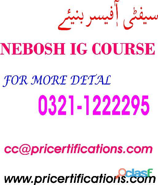 Nebosh diploma course in rawalpindi