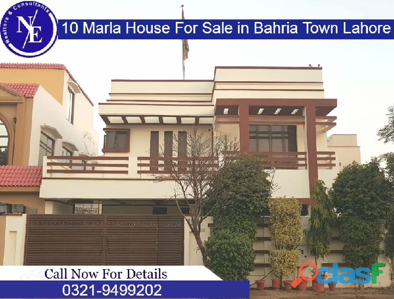 10 marla brand new house for sale in bahria town lahore nadeem estate