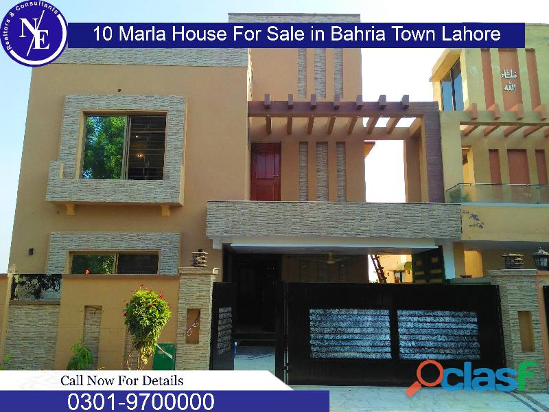 10 marla beautiful house for sale in bahria town lahore nadeem estate