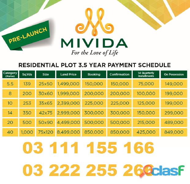 Mivida city islamabad 5 marla plot on installments reasonable price and good investment