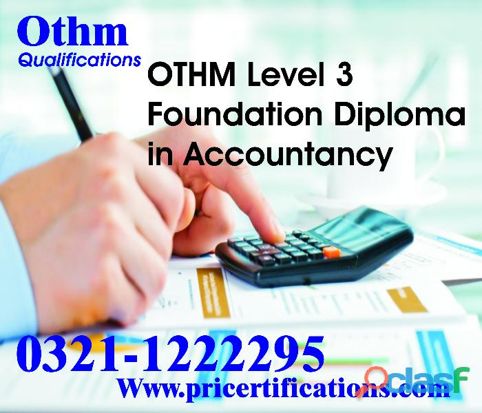 Othm level 3 foundation diploma in accountancy course in rawalpindi
