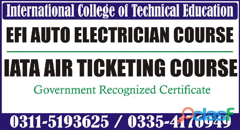 Efi auto electrician course in rawalpindi murree road shamsabad 03115193625