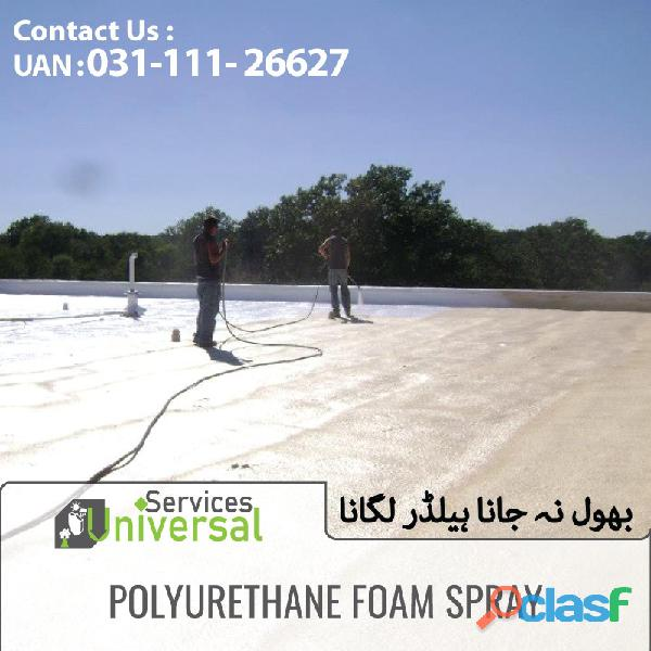 polyurethane Spray Heat and water proofing