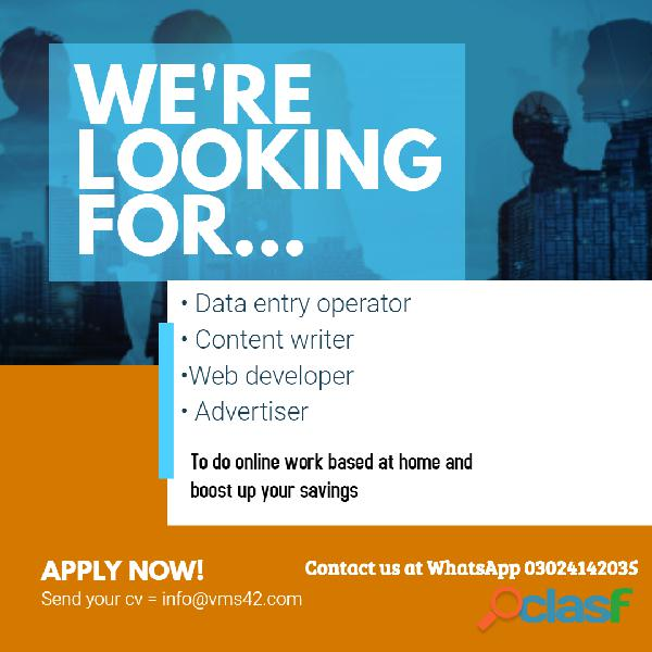 Data entry and form filling jobs