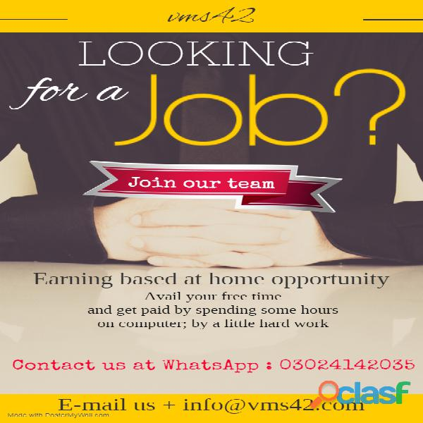Home based computer & internet jobs
