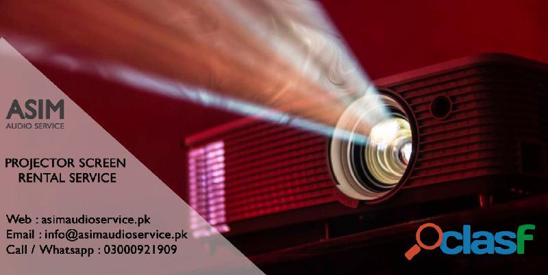 Projector screen rent in karachi   asim audio service